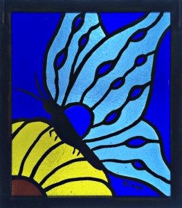 Blue Butterfly - Stained Glass - Lee Klade