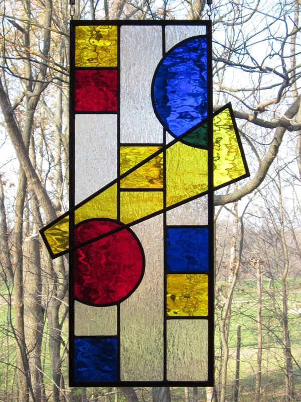 Circles and Squares: Bolt - Stained Glass - Prairie Style - Lee Klade