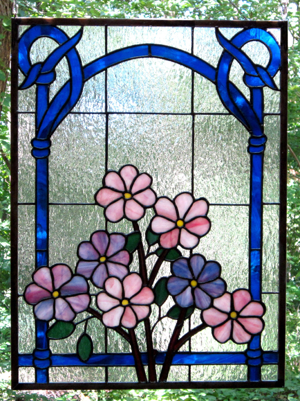 Flowers in the Window - Stained Glass - Lee Klade