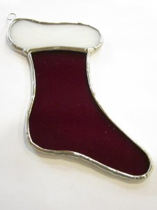 Holiday Stocking Ornament - Stained Glass - Lee Klade