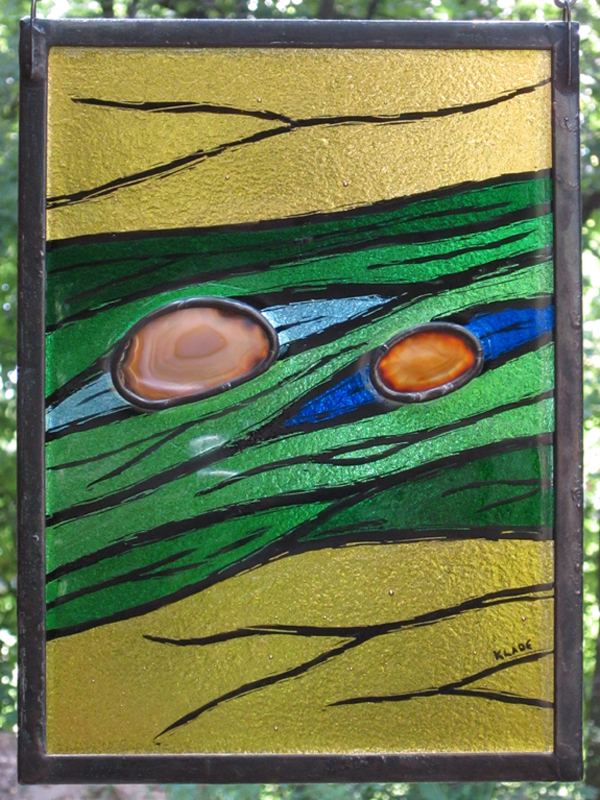 Hot Geologic - Stained Glass - Lee Klade