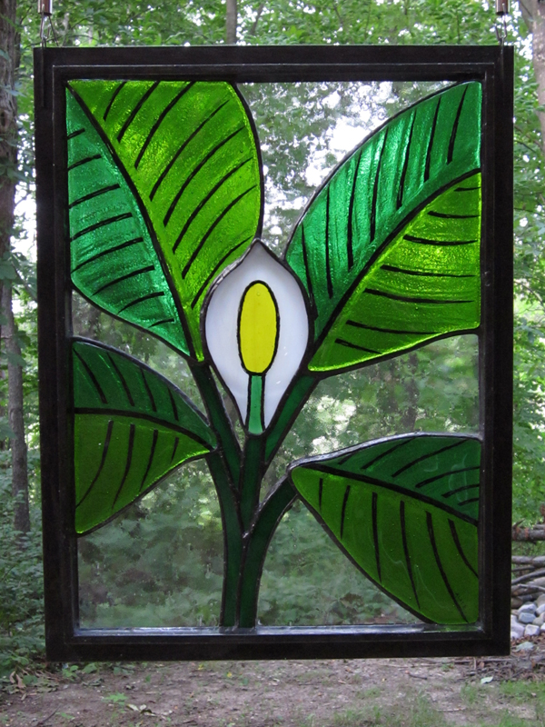 Mathilda (Peace Lily) - Stained Glass - Lee Klade