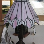 Pink Lily Lamp - Stained Glass - Lee Klade
