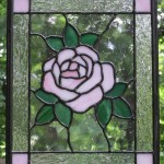 Pink Rose - Stained Glass - Lee Klade