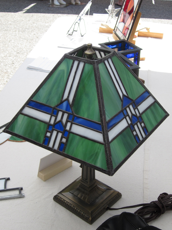Prairie Style Lamp - Stained Glass - Lee Klade