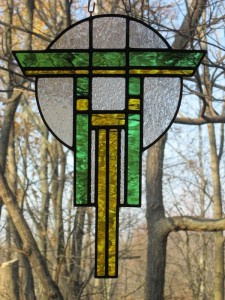 Prairie Warrior (green & yellow) - Stained Glass - Lee Klade
