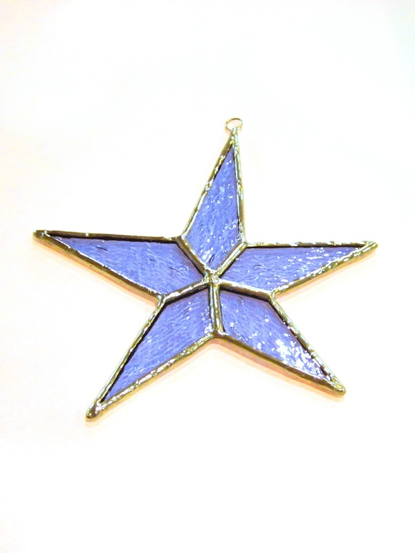 Star Ornament (blue) - Stained Glass - Lee Klade