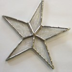 Star Ornament (clear) - Stained Glass - Lee Klade