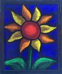 Sun Flower (Blue Sky) - Stained Glass - Lee Klade