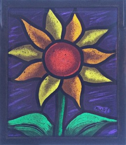 Sun Flower (Purple Sky) - Stained Glass - Lee Klade