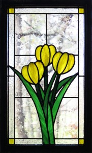 Tulip Trio (yellow) - Stained Glass - Lee Klade