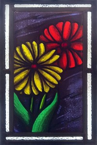 Two Flowers (Purple Sky) - Stained Glass - Lee Klade