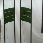 Geologics Sidelights (Green) - Stained Glass - Lee Klade