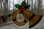 Holiday Horn - Stained Glass - Lee Klade