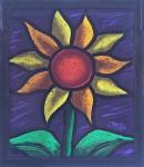 Sun Flower (Purple Sky) - Stained Glass - Lee Klade